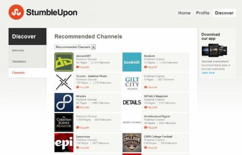 Сервис закладок StumbleUpon перезапустился и добавил поддержку брендов