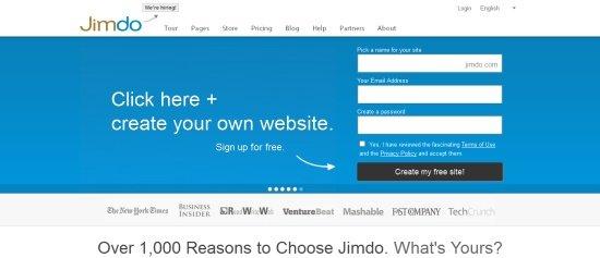 Jimbo создать сайт бесплатно