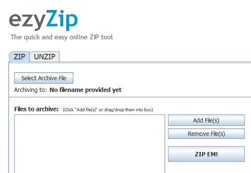 создать zip архив онлайн