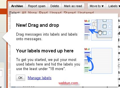 Метки в Gmail: перетаскивание, скрытие и многое другое