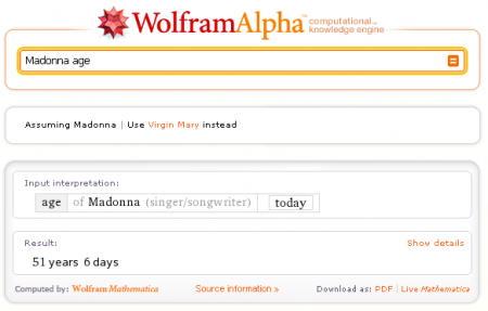 Сервис Wolfram Alpha - поисковик который умеет вычислять