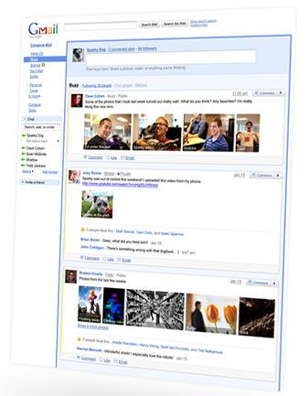 Google Buzz - Живая лента в Gmail