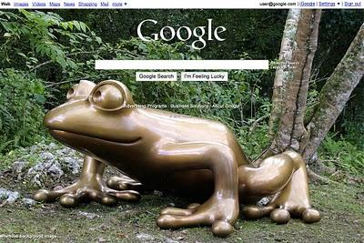 Персональный фон на домашней страничке google