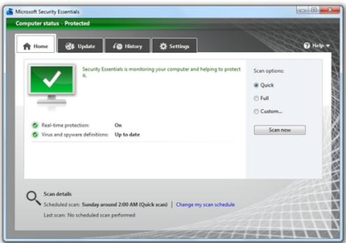 Доступна новая (бета) версия Security Essentials — бесплатного антивируса от Microsoft