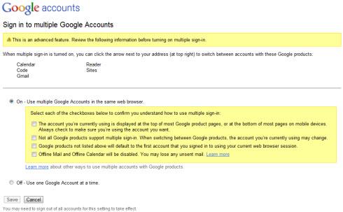 В Google наконец то включена мульти-авторизация для всех желающих
