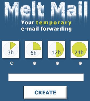 Melt Mail — временный почтовый ящик