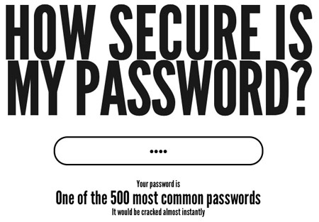 Howsecureismypassword.net - Насколько надежен мой пароль