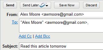 Boomerang — Приложение для GMail позволяющее управлять временем получения и отправки почты
