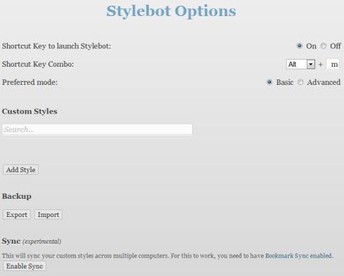 Stylebot — настраиваем стили любого сайта.
