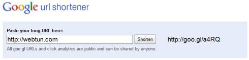 Goo.gl теперь полноценный сервис сокращения ссылок