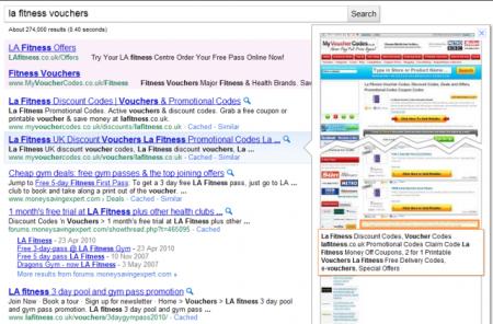 Google тестирует предосмотр странички в Google Search