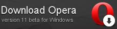 Вышла первая бета версия Opera 11