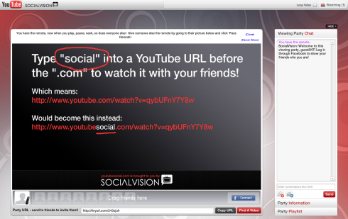 YouTube Social - Смотрим онлайн видео вместе с друзьями