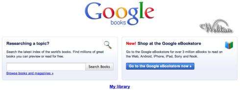 Открылся Google eBookstore — магазин электронных книг