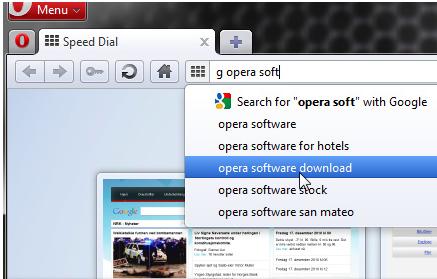 ����� Opera 11 - ����� ������� �� �����.