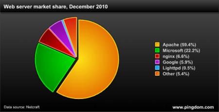 Веб статистика за 2010 год
