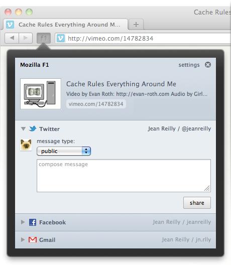 Расширение F1 для Firefox