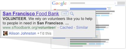 """Google добавляет кнопку """"+1"""" к результатам поиска"""