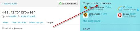 На Twitter-е улучшен поисковый механизм