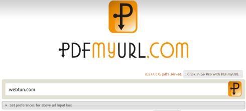 PDFmyURL – конвертер вебстраниц в pdf