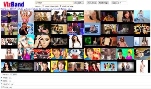 Vizband – визуальный поиск видео с YouTube
