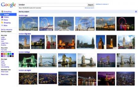 Картинки Google с сортировкой
