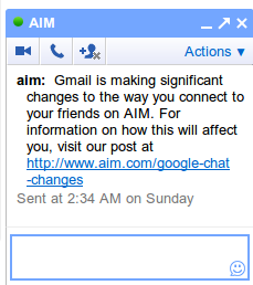 Gmail Chat и AIM теперь совместимы