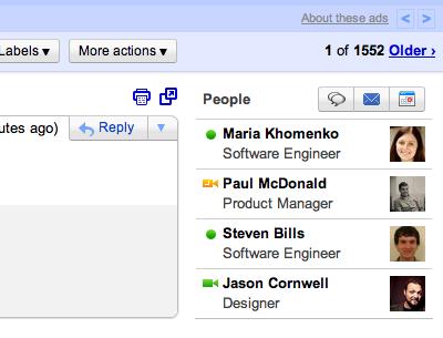 Новый Виджет «Люди» в Gmail