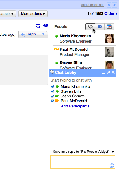 ����� ������ ����� � Gmail