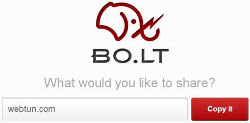 Bo.lt — Сервис шаринга веб-страниц