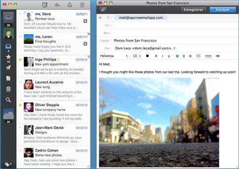 Sparrow — первый в мире социальный Email-клиент