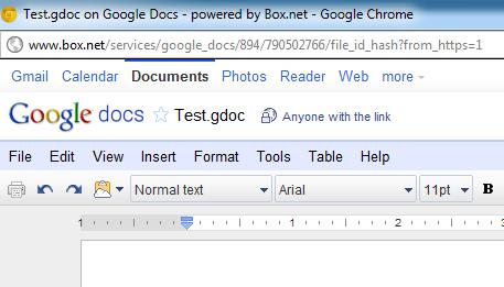 Box.net интегрируется с Google Docs