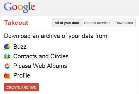 Google Takeout упрощает перенос пользовательских данных
