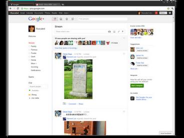Новая стильная тема для Хром в стиле Google+