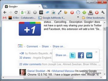 Делимся постами из Google+ в Twitter и Facebook
