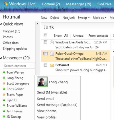 В Hotmail появились новые возможности