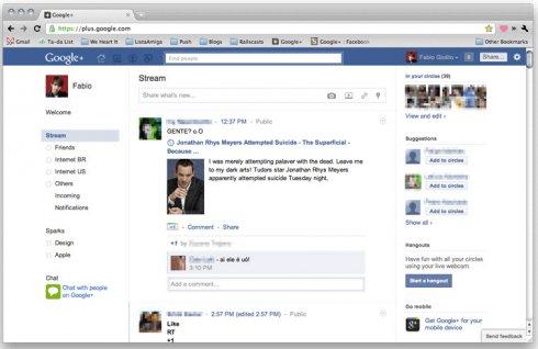 Как сделать Google+ похожим на Facebook