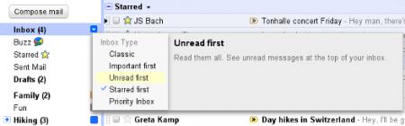 В Gmail появится несколько новых режимов отображения входящих сообщений
