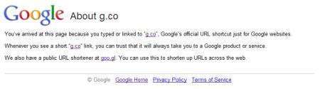 g.co — Самый краткий линк от Гугл