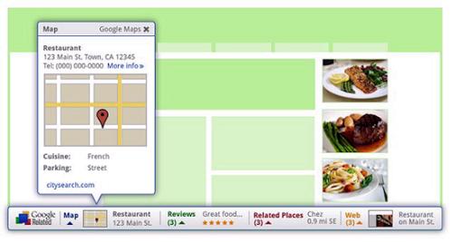 Related – подсказки сервисов Google внутри сайта