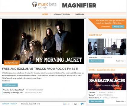 Google будет выдавать бесплатную музыку для Music Beta в новом блоге Magnifier