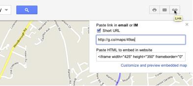Короткие ссылки возвращаются в Google Maps