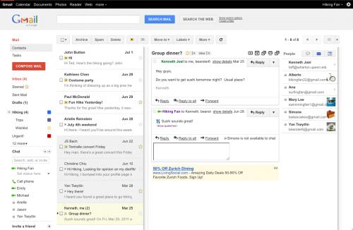 В Gmail появилась панель для быстрого просмотра писем