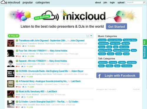 Mixcloud — миксы в облаке
