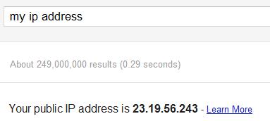 Google теперь умеет показывать ваш внешний IP