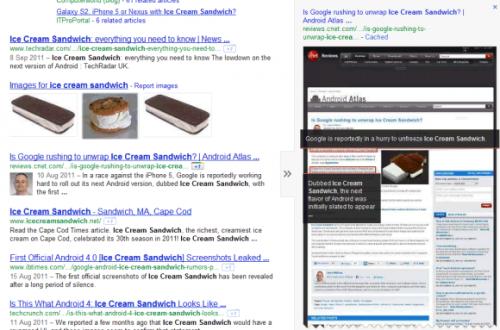 В поисковике Google появился новый интерфейс Предпросмотра