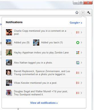 Добавьте функции Google+ в браузер Chrome: Оповещения Google+ и Кнопка +1
