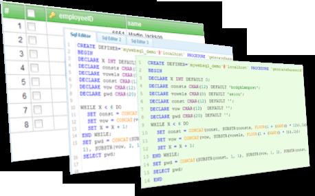 MyWebSQL — веб-приложение для администрирования MySQL