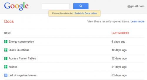 Обновление офлайн-версии Google Docs (Google Документов)