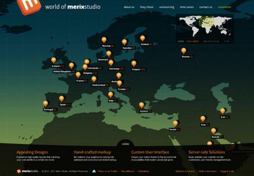 Красивые вдохновляющие сайты с большими картами